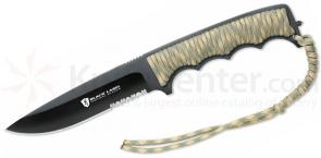 Browning Black Label Stone Cold Spear Fixed 5-5/8 inch 440 Stainless Steel Blade, Camo Paracord Handle