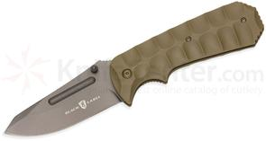 Browning Black Label Unleashed Assisted Folding Knife 3.375 inch Blade, Tan G10 Handles