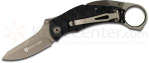 Browning Black Label Vanquish Folding Knife 2.75 inch Plain Blade, Black G10 Handles