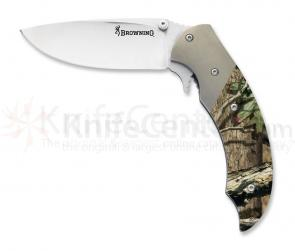 Browning Tactical Hunter Folding 3-1/8 inch VG-10 Blade, Camo Aluminum Handles
