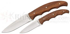 Browning Hunter Combo, Fixed 3-1/2 inch and 2-1/2 inch  Plain Blades, Rosewood Handles, Nylon Sheath Included
