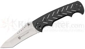 Browning Black Label Integrity Folding 3-3/4 inch 440 Satin Plain Blade, Black G10 Handles