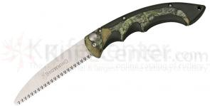 Browning Folding 5 inch Camp Saw, Zytel Handles with Camo Rubber Inlays, Camo Nylon Sheath Included