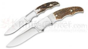 Browning Guide's Choice Fixed Blades, Stag Handles, Leather Sheath Included