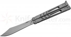 BRS Bladerunners Systems Alpha Beast 3.0 Balisong Butterfly 4.5 inch 154CM Clip Point Blade, Titanium Handles