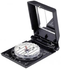 Brunton Trooper, Pin-On Mirrored Sighting Compass