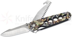 Buck Alpha Crosslock PBS Camo Aluminum 3 Function Knife, 4-5/8 inch Closed