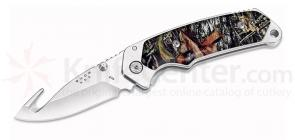 Buck 278CMB Folding Alpha Hunter 3.5 inch Blade with Gut Hook, Camo Handles