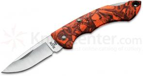 Buck 283 Nano Bantam Folding Knife 1-7/8 inch Blade, Orange Head Hunterz Nylon Handles