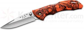 Buck 284 Bantam BBW Folding Knife 2-3/4 inch Blade, Orange Head Hunterz Nylon Handles