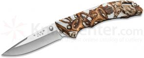 Buck 285 Bantam BLW Folding Knife 3.125 inch Blade, White Head Hunterz Handles