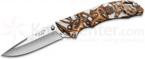 Buck 286 Bantam BHW Folding Knife 3-5/8 inch Blade, White Head Hunterz Handles