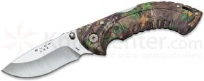 Buck 395 Folding Omni Hunter 10PT 3 inch Blade, RealTree Xtra Green Camo Handles