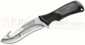 Buck Haley Heath ErgoHunter Adrenaline (Select) Skinner Fixed 4-1/2 inch Blade with Guthook, Gray Handles, Nylon Sheath