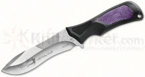 Buck Haley Heath ErgoHunter Adrenaline (Avid) Skinner Fixed 4-1/2 inch Sandvik Blade, Purple Handles, Nylon Sheath