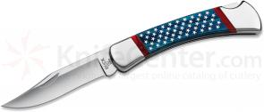 Buck 110 Stars & Stripes Folding Hunter 3-3/4 inch Blade, Dymondwood Handles (0110BLSUSA)