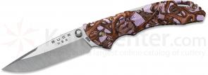 Buck 284 Bantam BBW Folding Knife 2-3/4 inch Blade, Lavender Head Hunterz Nylon Handles