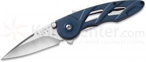 Buck 290 Rush Assisted 2-1/2 inch Blade, Blue Aluminum Handles (0290BLS1)