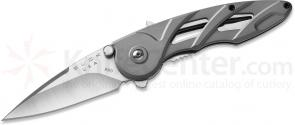 Buck 290 Rush Assisted 2-1/2 inch Blade, Gray Aluminum Handles (0290GYS1)