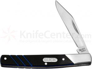 Buck 379 Solo Single Blade Pocket Knife 3 inch Closed, G10 Handles (0379BKS)