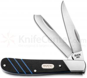 Buck 382 Trapper Two Blade Pocket Knife 3-1/2 inch Closed, G10 Handles (0382BKS)