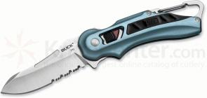Buck 770 FlashPoint SafeSpin Folding Knife 2-7/8 inch Combo Blade, Blue Handles