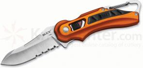Buck 770 FlashPoint SafeSpin Folding Knife 2-7/8 inch Combo Blade, Orange Handles
