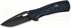 Buck 847 Vantage Force Pro Folding Knife 3-1/4 inch S30V Plain Blade, Black/Blue G10 Handles