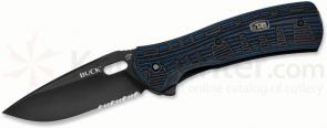 Buck 847 Vantage Force Pro Folding Knife 3-1/4 inch S30V Combo Blade, Black/Blue G10 Handles