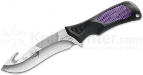 Buck 085 Family Traditions Adrenaline Fixed 4-1/2 inch 420HC Blade with Guthook, Purple and Black Handles