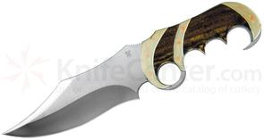 Buck 982 Legacy Collection Jeff Legerton Brazen Bowie Fixed 7 inch S30V Plain Blade, Bocote Wood Handles