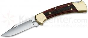 Buck 112 Ranger Folding Hunter Style Lockback 3 inch Blade, Natural Wood Handles, Brass Bolsters