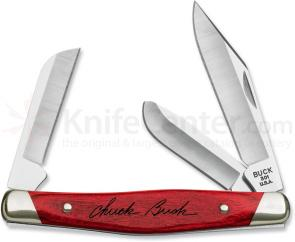 Buck 301 Stockman CW Pocket Knife 3-7/8 inch Closed, Cherry Dymondwood Handles