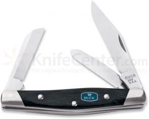 Buck Cadet Charcoal Dymondwood Handle 3-1/4 inch Closed