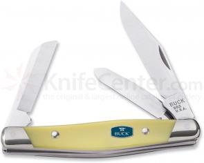 Buck Cadet 3-1/4 inch Closed, ComfortCraft, Yellow Delrin Handles