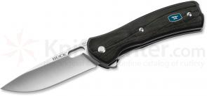 Buck 342 Vantage Pro Small Folding Knife 2-5/8 inch S30V Blade, Molded Nylon with CNC Contoured Black G10 Handles