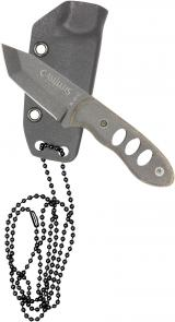 Camillus Choker USA Made Every Day Carry Fixed 2.5 inch 1095 Carbon Blade, Micarta Handle, Kydex Sheath
