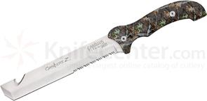 Camillus Carnivore Z 8 inch Titanium Bonded Fixed Blade Knife with Camo Handles, Nylon Sheath