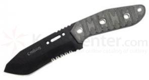 Camillus by TOPS Knives 19183 CK-9.5 Combat Knife Fixed 4.75 inch 1095 Carbon Blade, Micarta Handles