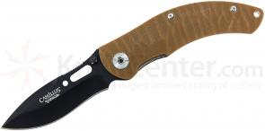 Camillus 19207 Charge Folding 3.5 inch Titanium Bonded AUS-8 Stainless Blade, Coyote Brown G10 Handles