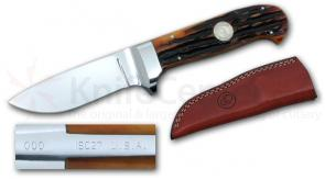 Canal Street Cutlery Fixed Bone Stag D'Holder Drop Point Hunter