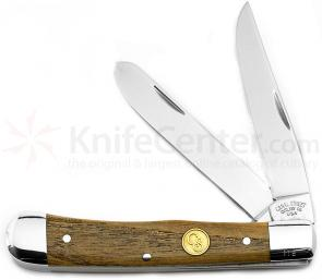 Canal Street Cutlery Two Blade Moon Pie Trapper, American Chestnut Handles, 4-1/8 inch Closed