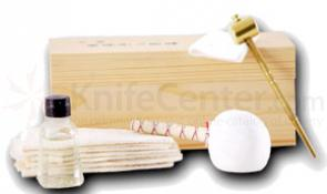Samurai Sword Maintenance Kit All Traditional Items Included Attractive Wooden Box