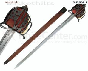 Hanwei Scottish Basket-Hilt Broadsword (Antiqued) 39.75 inch Overall