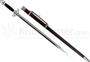 Tai Chi Hsu Sword With Black Finish Scabbard 28 inch Blade
