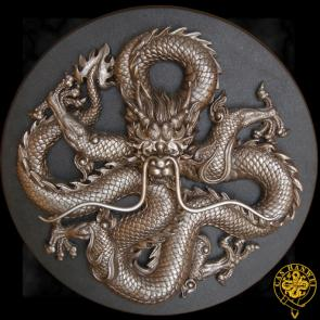 Hanwei Dragon Plaque  Cast Stainless Steel