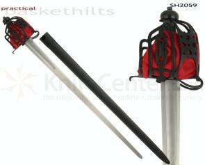 CAS Hanwei SH2059 Practical Basket Hilt Broadsword Made For The Re-Enactor