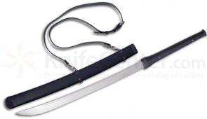 CAS Hanwei SH2126 Banshee Cutting Sword 21 inch Carbon Steel Blade, Leather Wrap Handle