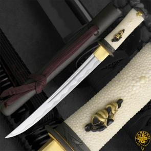 CAS Hanwei SH6007KFT Tori Tanto Folded High-Carbon Blade Rayskin Handle Wrap