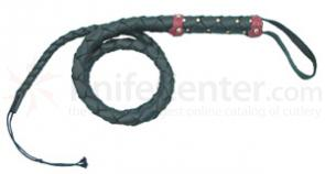 Black  inchLeatherette inch Bullwhip 60 inch A Recreation Whip Tan and Black